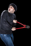 Scared burglar Royalty Free Stock Photos