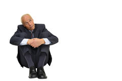 Scared businessman Stock Photos