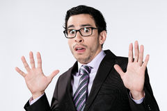 Scared Businessman  Royalty Free Stock Photo