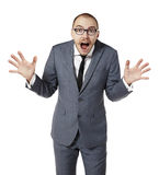 Scared businessman Stock Images