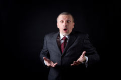 Scared businessman Stock Photography