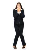Scared businesswoman Royalty Free Stock Photos