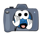 Scared Camera cartoon Stock Photography