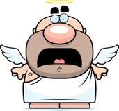 Scared Cartoon Angel Royalty Free Stock Photography