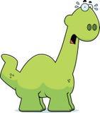 Scared Cartoon Apatosaurus Stock Photo