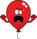 Scared Cartoon Balloon Royalty Free Stock Images