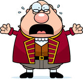 Scared Cartoon Ben Franklin royalty free illustration