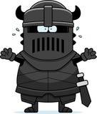 Scared Cartoon Black Knight Stock Photos