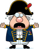 Scared Cartoon British Admiral Royalty Free Stock Images