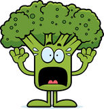 Scared Cartoon Broccoli Stock Photos