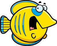 Scared Cartoon Butterflyfish Royalty Free Stock Photos