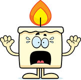 Scared Cartoon Candle Stock Image