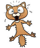 Scared cartoon cat Stock Images