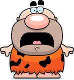 Scared Cartoon Caveman Royalty Free Stock Image