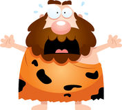 Scared Cartoon Caveman Royalty Free Stock Images