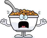 Scared Cartoon Cereal Royalty Free Stock Image
