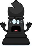 Scared Cartoon Chess Bishop Stock Image