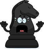 Scared Cartoon Chess Knight Royalty Free Stock Photos