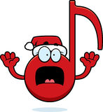 Scared Cartoon Christmas Music Stock Photography