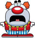 Scared Cartoon Clown Royalty Free Stock Photos