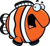 Scared Cartoon Clownfish Stock Photos