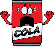Scared Cartoon Cola Can Royalty Free Stock Photography