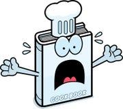 Scared Cartoon Cookbook Stock Photography
