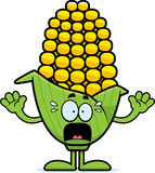 Scared Cartoon Corn Royalty Free Stock Photography
