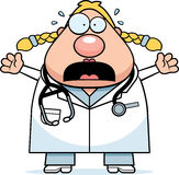 Scared Cartoon Doctor Stock Photo