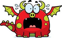 Scared Cartoon Dragon Royalty Free Stock Photography