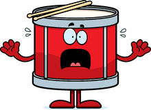 Scared Cartoon Drum Stock Photography
