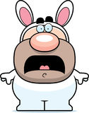 Scared Cartoon Easter Bunny Royalty Free Stock Image