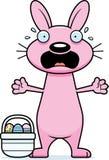 Scared Cartoon Easter Bunny Royalty Free Stock Photos