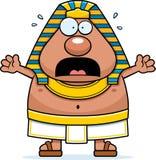Scared Cartoon Egyptian Pharaoh Royalty Free Stock Image