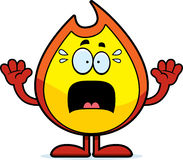 Scared Cartoon Fire Stock Image