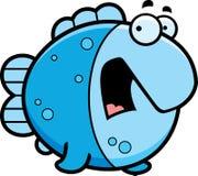 Scared Cartoon Fish vector illustration