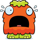 Scared Cartoon Fluffy Monster Royalty Free Stock Images