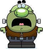 Scared Cartoon Frankenstein Stock Images