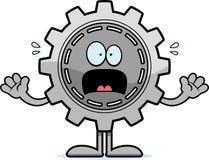 Scared Cartoon Gear Stock Photography