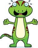 Scared Cartoon Gecko Royalty Free Stock Photos