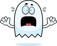 Scared Cartoon Ghost Stock Images