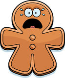 Scared Cartoon Gingerbread Man Royalty Free Stock Photos