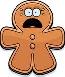 Scared Cartoon Gingerbread Man Royalty Free Stock Photos