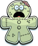 Scared Cartoon Gingerbread Zombie Royalty Free Stock Image