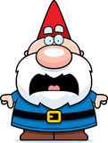 Scared Cartoon Gnome Royalty Free Stock Images