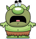 Scared Cartoon Goblin Stock Photo
