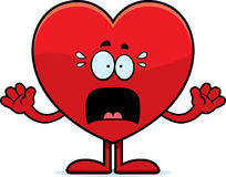 Scared Cartoon Heart Royalty Free Stock Photos
