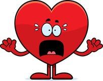 Scared Cartoon Heart vector illustration