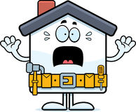 Scared Cartoon Home Improvement Royalty Free Stock Image