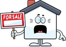 Scared Cartoon Home Sale Stock Image